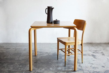 SOLD - Thonet Original Bentwood Square Table, 1950s