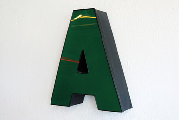 "SOLD - Vintage Channel Letter ""A"" in Forest Green - Large"