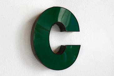 "SOLD - Vintage Channel Letter ""C"" in Forest Green - Large"