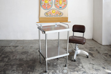 SOLD - Vintage Stainless Steel Medical Cart/ Bar Cart