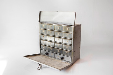 """SOLD - 1960s Multi-Drawer, Carry-All, Industrial Steel Toolbox, """"KIT-A"""""""