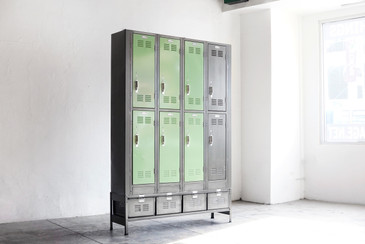 Vertical Locker and Basket Storage Unit