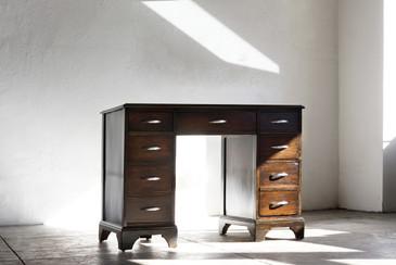 SOLD - 1950s Vintage Wood Writing Desk