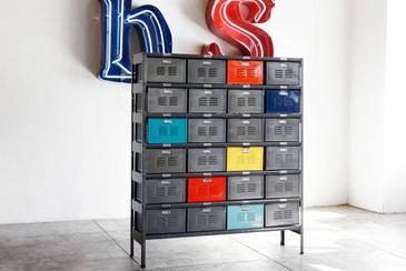 4 x 6 Vintage Locker Basket Unit, Refinished
