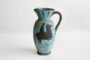 SOLD-Ceramic Ewer/ Pitcher by Fantoni for Raymor, 1961
