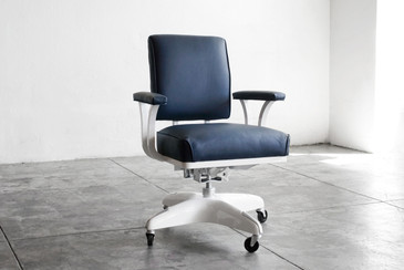 SOLD - 1970s Steel Armed Steno Chair, Refinished
