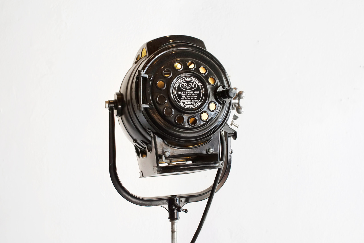 Sold Vintage Hollywood Stage Light On Tripod C 1940s