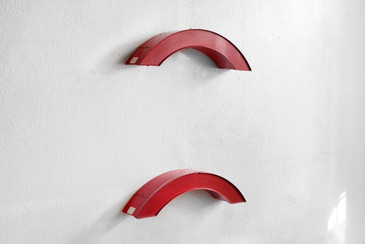 SOLD - Red Arched Rainbow Neon Channel Symbol