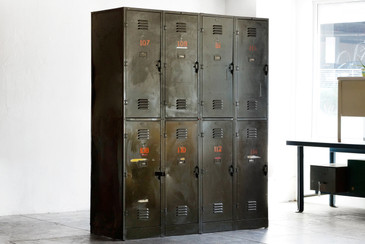 SOLD - Massive Vintage Locker Unit from the DOD, c. 1940s