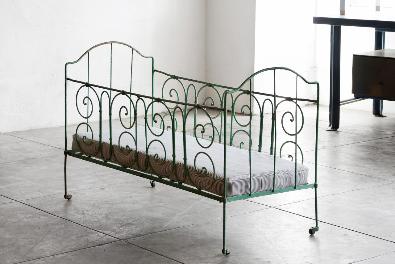 SOLD - Antique French Wrought Iron Baby Crib - Rehab ...