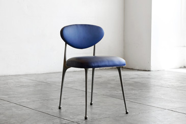 SOLD - 1970s Cast Aluminum Gazelle Chair by Crucible, Refinished