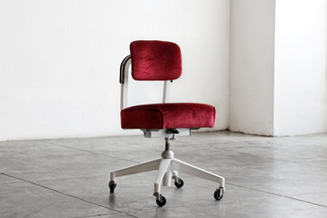 SOLD - 1960s Armless Task Chair by Steelcase, Refinished