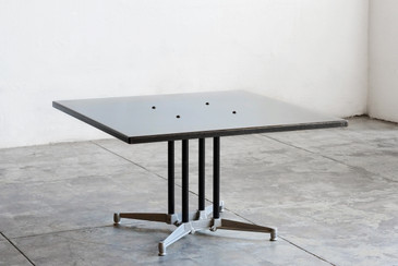 SOLD - Robert Josten Steel Top Coffee Table, 1980s