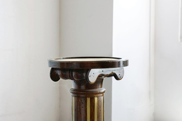 SOLD - Neoclassical Wood and Brass Classical Display or Plant Stand