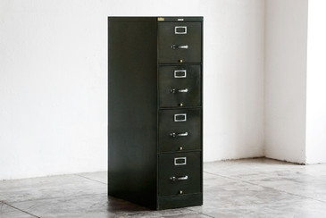 SOLD - 1930s Deco-Era Vertical Filing Cabinet by SteelCase