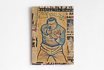 """SOLD - Daniel Siboni """"Target Practice,"""" Original Wood Print"""
