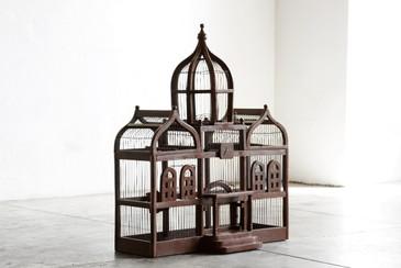 SOLD - Large Vintage Taj Mahal Style Bird Cage