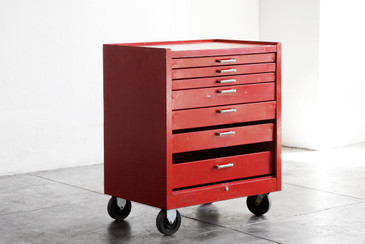 SOLD - Vintage Stack-On Tool Chest in Red