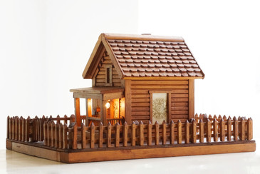 American Folk Art Log Cabin