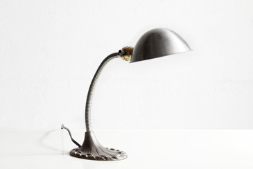 SOLD - Art Deco Gooseneck Table Lamp, Refinished