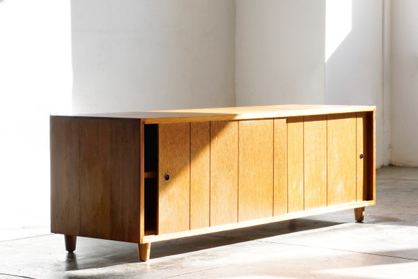 SOLD - Mid Century Modern Wood Credenza - Rehab Vintage Interiors Mid Century Modern Wood Credenza on mid century modern 9 drawer dresser, jesper credenza office storage wood, mid century wood furniture,