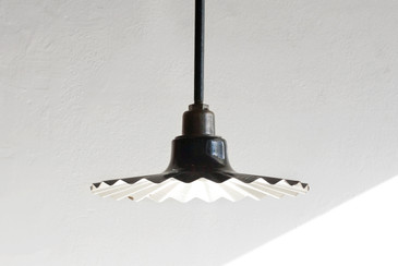 SOLD - 1920s Porcelain Street Lamp by Benjamin Electrical Co.