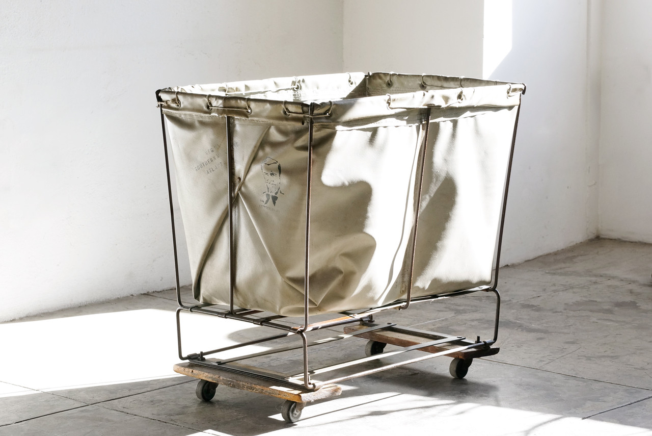 Vintage Industrial Laundry Cart By Southern Mills
