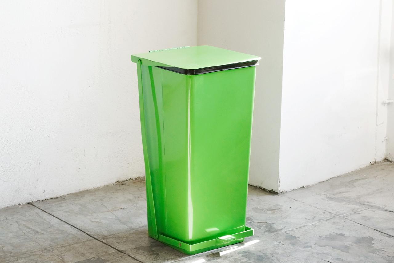 Sold Vintage Mipro Industrial Steel Hamper Trash Bin