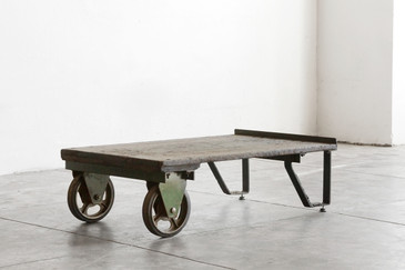 SOLD - Vintage Industrial Cart/ Coffee Table