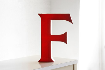 "SOLD - Vintage Channel Letter ""F"" in Red"