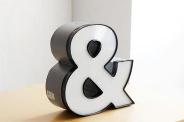 """SOLD - Vintage Channel Letter """"&"""" / Ampersand Symbol in White"""