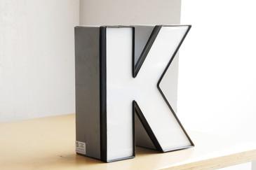"""SOLD - Vintage Channel Letter """"K"""" in White"""