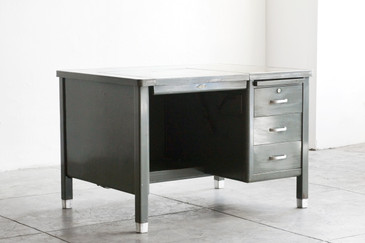 SOLD - 1920s Typewriter Tanker Desk by Art Metal