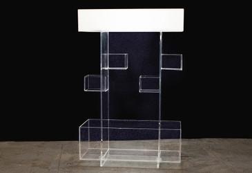 SOLD - Unique Acrylic Display Shelf, circa 1973