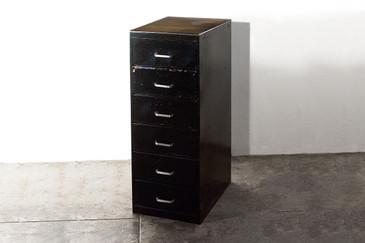 SOLD - Vintage 6 Drawer Storage Cabinet