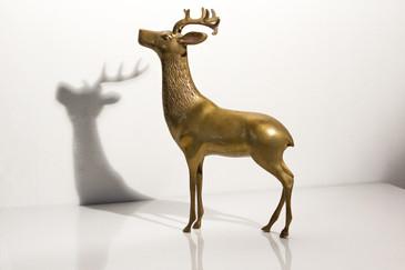 SOLD - Brass Deer Figurine