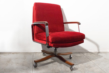 SOLD - Awesome Chrome Executive Armchair. c 1980