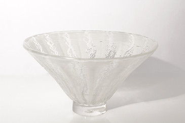 Art Glass Bowl with Relief Texture