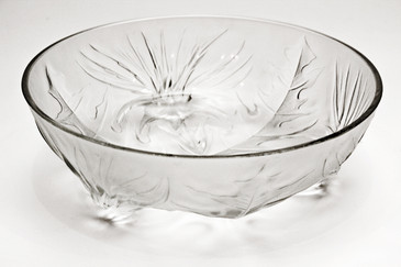 SOLD - Frosted Thistle Relief Bowl by Verlys of America, C 1945