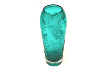SOLD - Jaguar Art Glass Vase