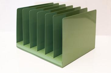 SOLD - Vintage File Holder, Sage Green