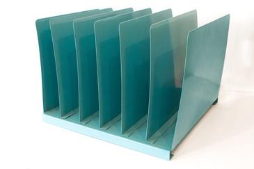 SOLD - Vintage File Holder, Sea Foam Blue