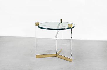 "SOLD - Charles Hollis Jones ""Fleur-de-Lis"" Side Table"
