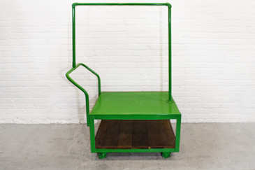 SOLD - Kitson Rolling Display Cart, Lime Green