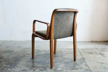 SOLD - Knoll Arm Chair with Bent Wood Arms, Classic