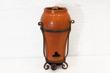 SOLD - Antique Porcelain Enamel Space Heater