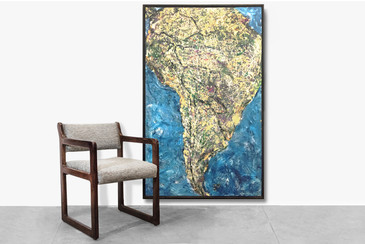 "SOLD - South America ""Drip"" Painting by Pasquale, 2002"