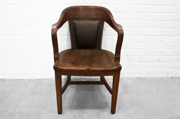 SOLD - Antique Oak Lawyers Armchair