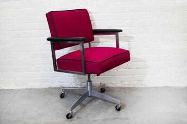 SOLD - Classic Steelcase Chrome Steno Chair