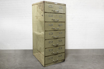 SOLD - Multi-Drawer Vintage Steel Card File
